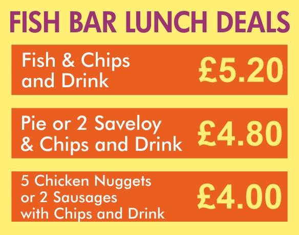 Taylor's fish bar Tonbridge lunchtime deals
